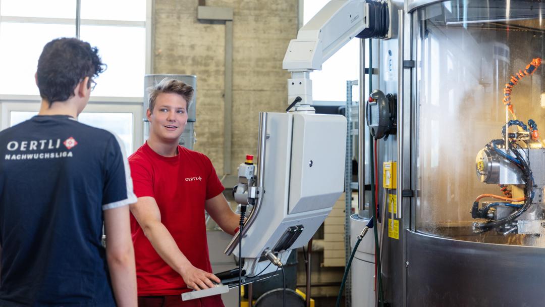Firma OERTLI Werkzeuge AG Produktion